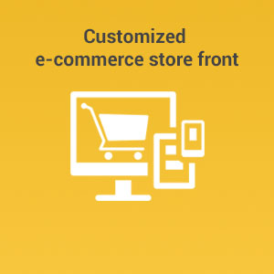 Customized e-commerce store front